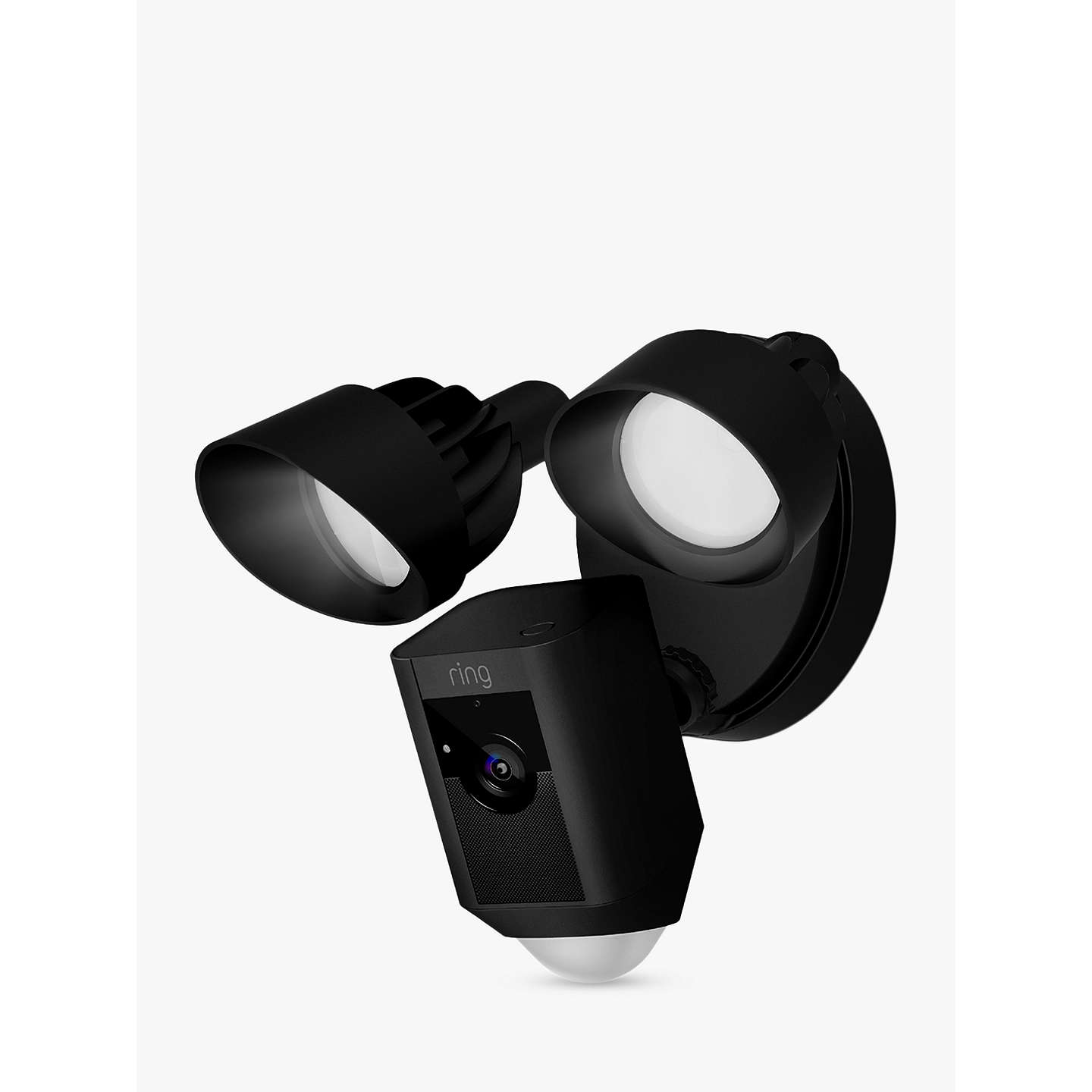 BuyRing Floodlight Cam Smart Security Camera with Built-in Wi-Fi & Siren Alarm, Black Online at johnlewis.com