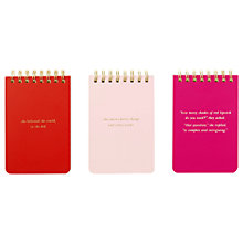 Buy kate spade new york Statement Notebooks, Set of 3 Online at johnlewis.com
