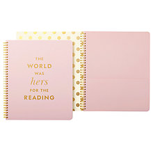 Buy kate spade new york Hers For The Reading Notebook Online at johnlewis.com