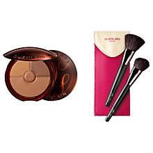 Buy Guerlain Terracotta Collecter Powder, Deep Bronze with Free Makeup Brush Set Online at johnlewis.com