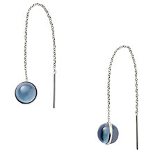 Buy Skagen Sea Glass Chain Drop Earrings, Silver/Blue Online at johnlewis.com