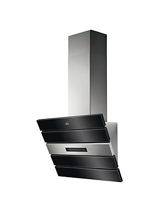 AEG DVK6980HB Angled Chimney Cooker Hood, Stainless Steel
