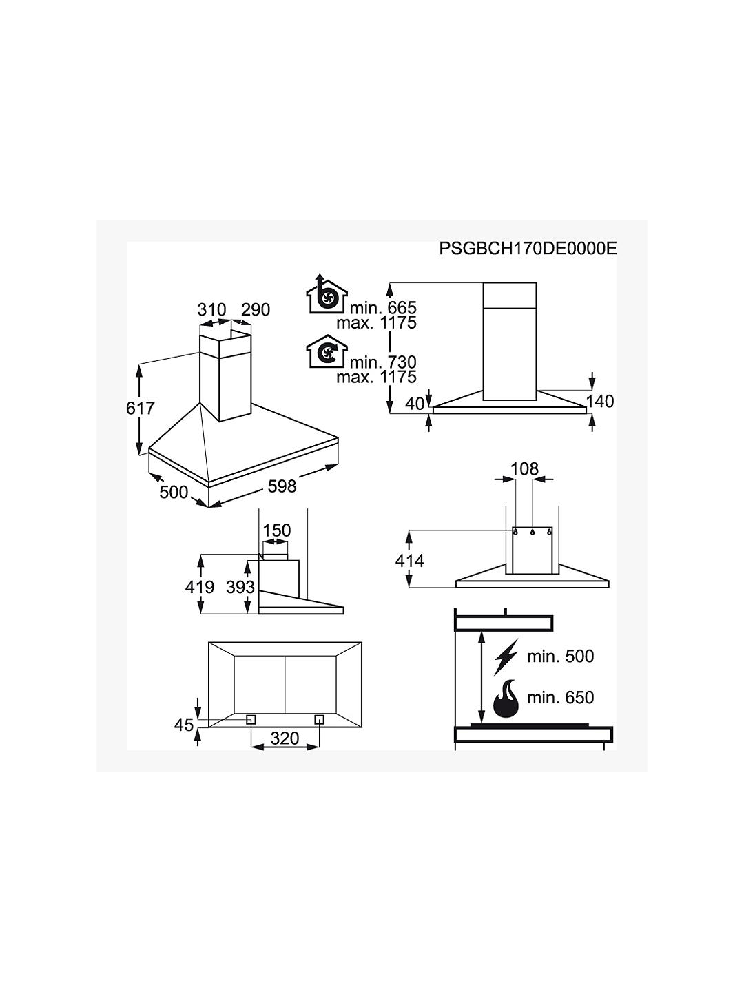 Buy AEG DKB5660HM Chimney Cooker Hood, Stainless Steel Online at johnlewis.com