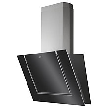Buy AEG DVB3850B Angled Chimney Cooker Hood, Black Glass Online at johnlewis.com