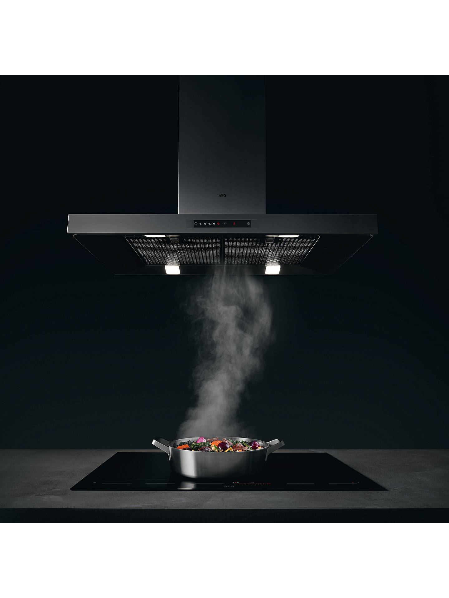 BuyAEG DBE6780HM Chimney Cooker Hood, Stainless Steel Online at johnlewis.com