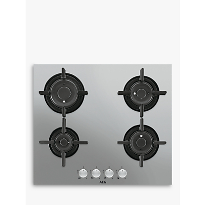 AEG HG654820UM Integrated Gas Hob, Stainless Steel