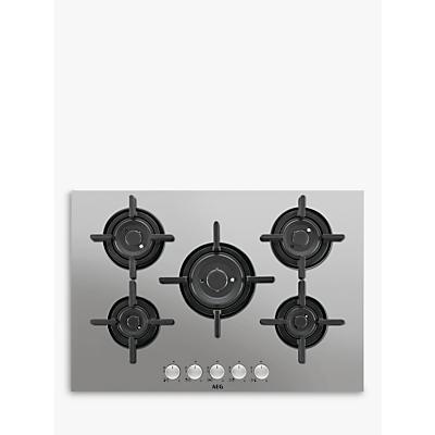 AEG HG755820UM Integrated Gas Hob, Stainless Steel