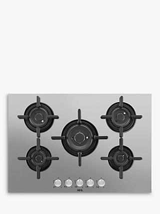 AEG HG755820UM Integrated Gas Hob, Stainless Steel