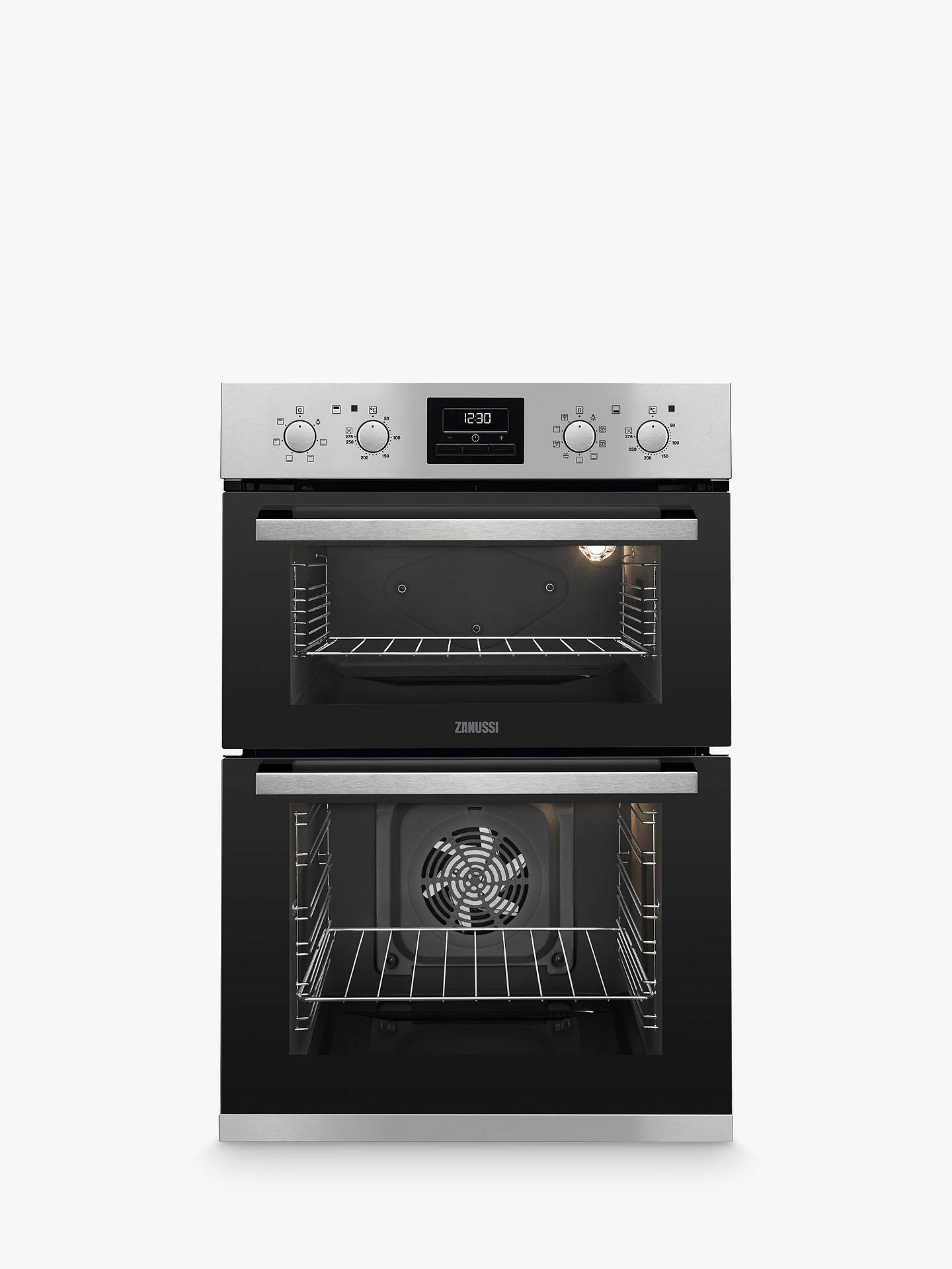 BuyZanussi ZOD35802X Built-in Double Oven, Stainless Steel Online at johnlewis.com