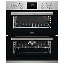 Buy Zanussi ZOF35601XK Built-under Double Electric Oven, Stainless Steel Online at johnlewis.com