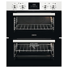 Buy Zanussi ZOF35601WK Built-in Double Electric Oven, White Online at johnlewis.com
