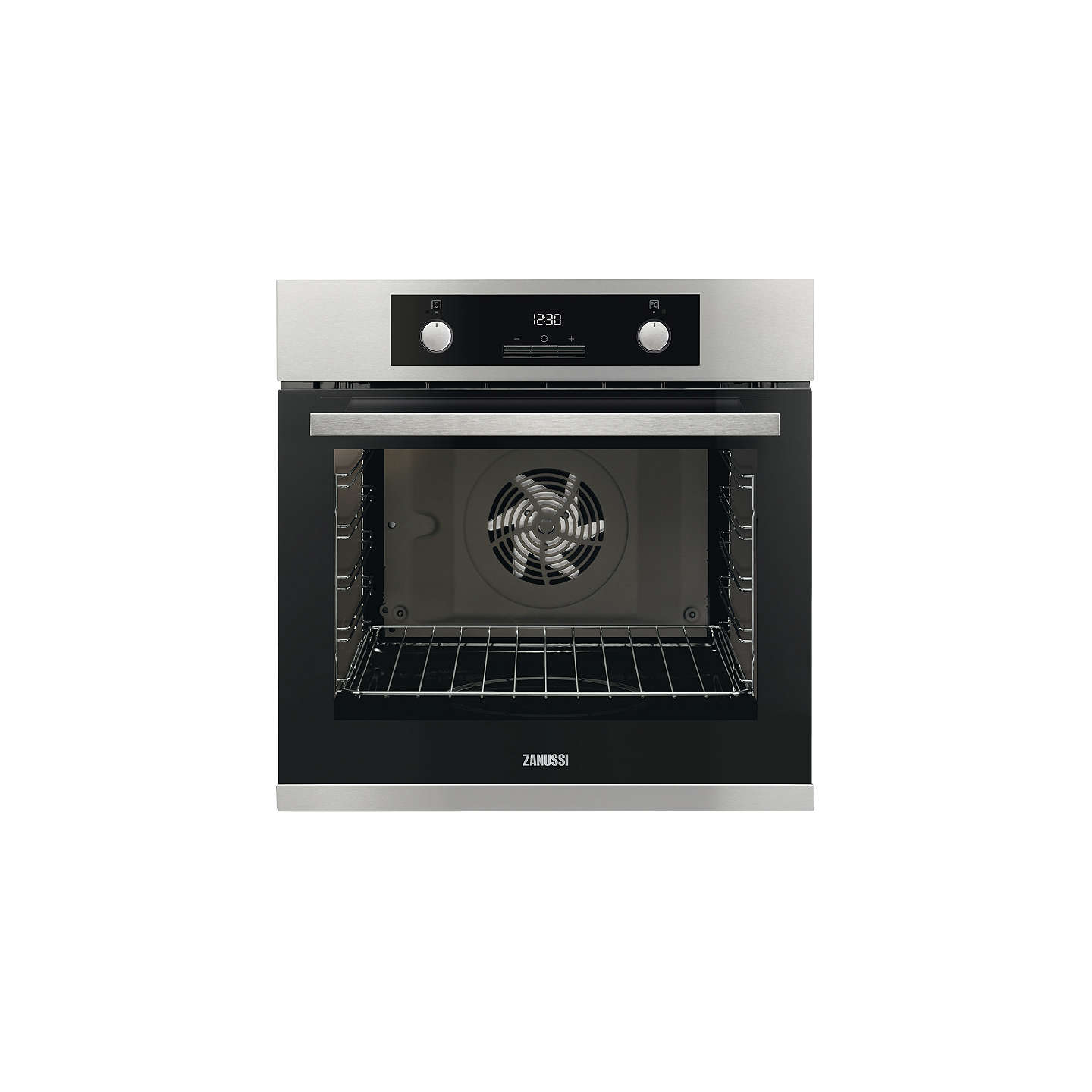 Zanussi ZOA35972XK Built-In Electric Single Oven, Stainless Steel at ...