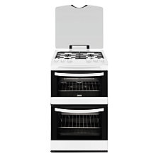 Buy Zanussi ZCG43000WA Gas Cooker, White Online at johnlewis.com