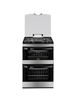 Zanussi ZCG63010XA Gas Cooker, Stainless Steel