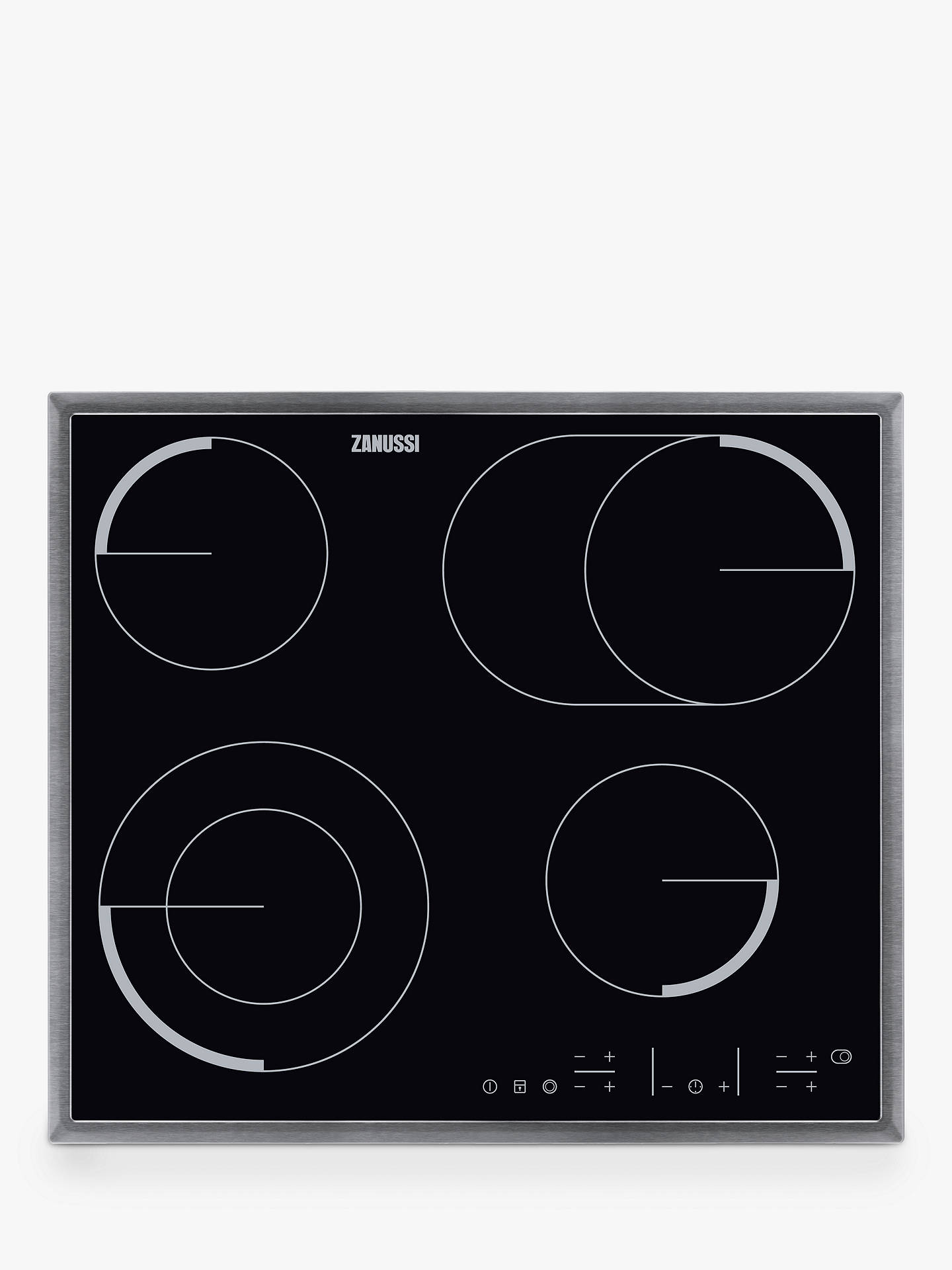 zanussi zev6646xba built in ceramic hob black at john lewis partners rh johnlewis com