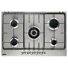 Buy Zanussi ZGG75524XS Gas Hob, Stainless Steel Online at johnlewis.com