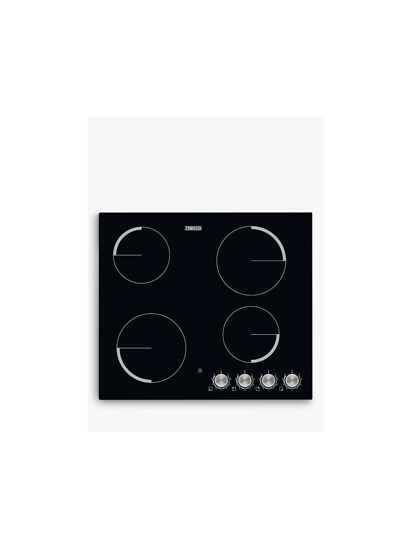Stupendous Zanussi Zv694Nk Electric Ceramic Hob Black At John Lewis Partners Wiring Database Xlexigelartorg