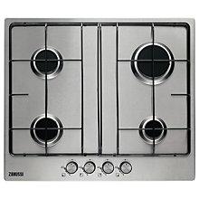 Buy Zanussi ZGG65411XB Gas Hob, Stainless Steel Online at johnlewis.com