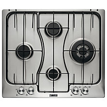 Buy Zanussi ZGX65424XS Gas Hob, Stainless Steel Online at johnlewis.com