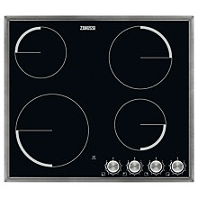 Buy Zanussi ZV694MK Built In Ceramic Hob, Black Online at johnlewis.com