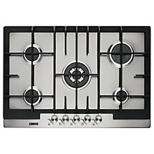 Buy Zanussi ZGG76524XS Gas Hob, Stainless Steel Online at johnlewis.com