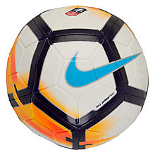 Buy Nike Premier League Strike Football, Size 5, White/Blue Online at johnlewis.com