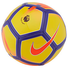 Buy Nike Premier League Pitch Mini Football, Size 1, Yellow/Purple Online at johnlewis.com