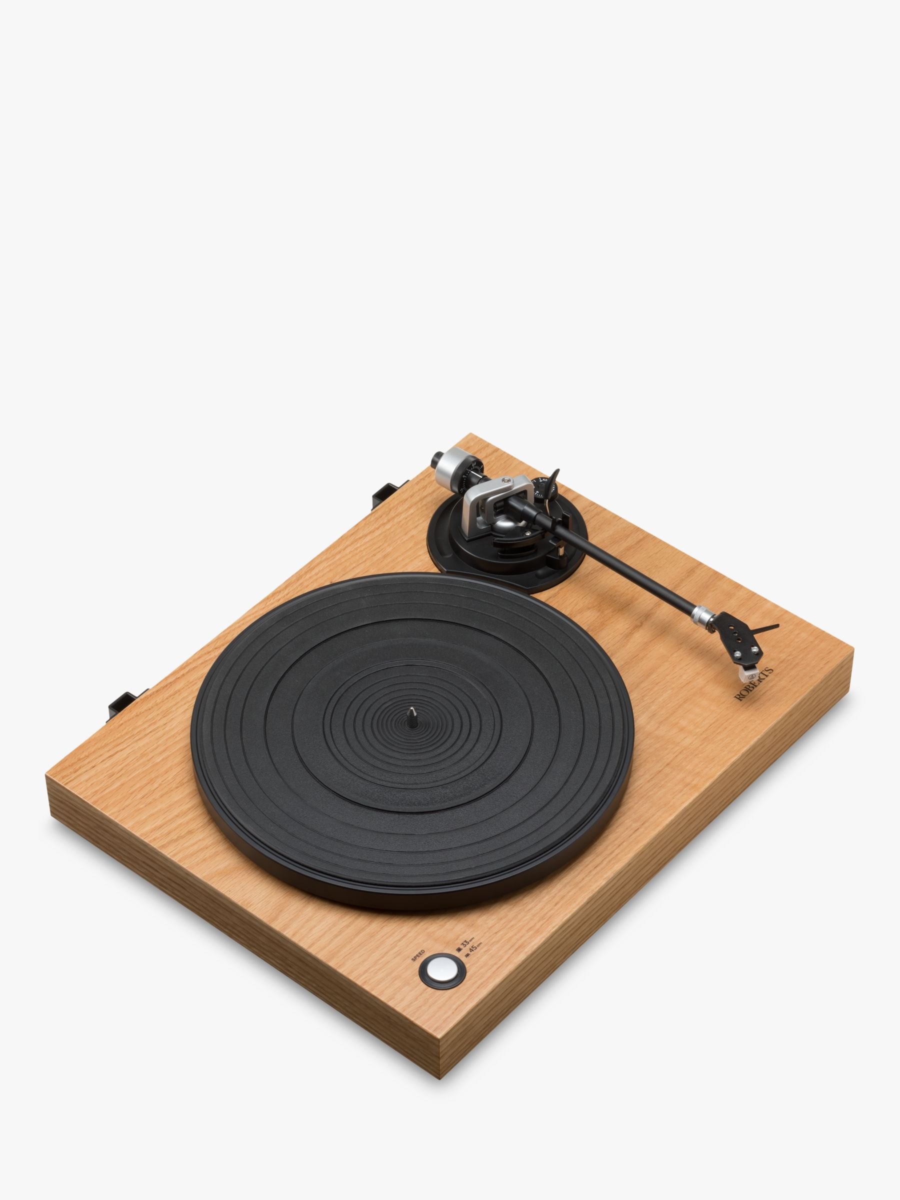 Roberts ROBERTS RT100 Two Speed USB Turntable, Natural Wood