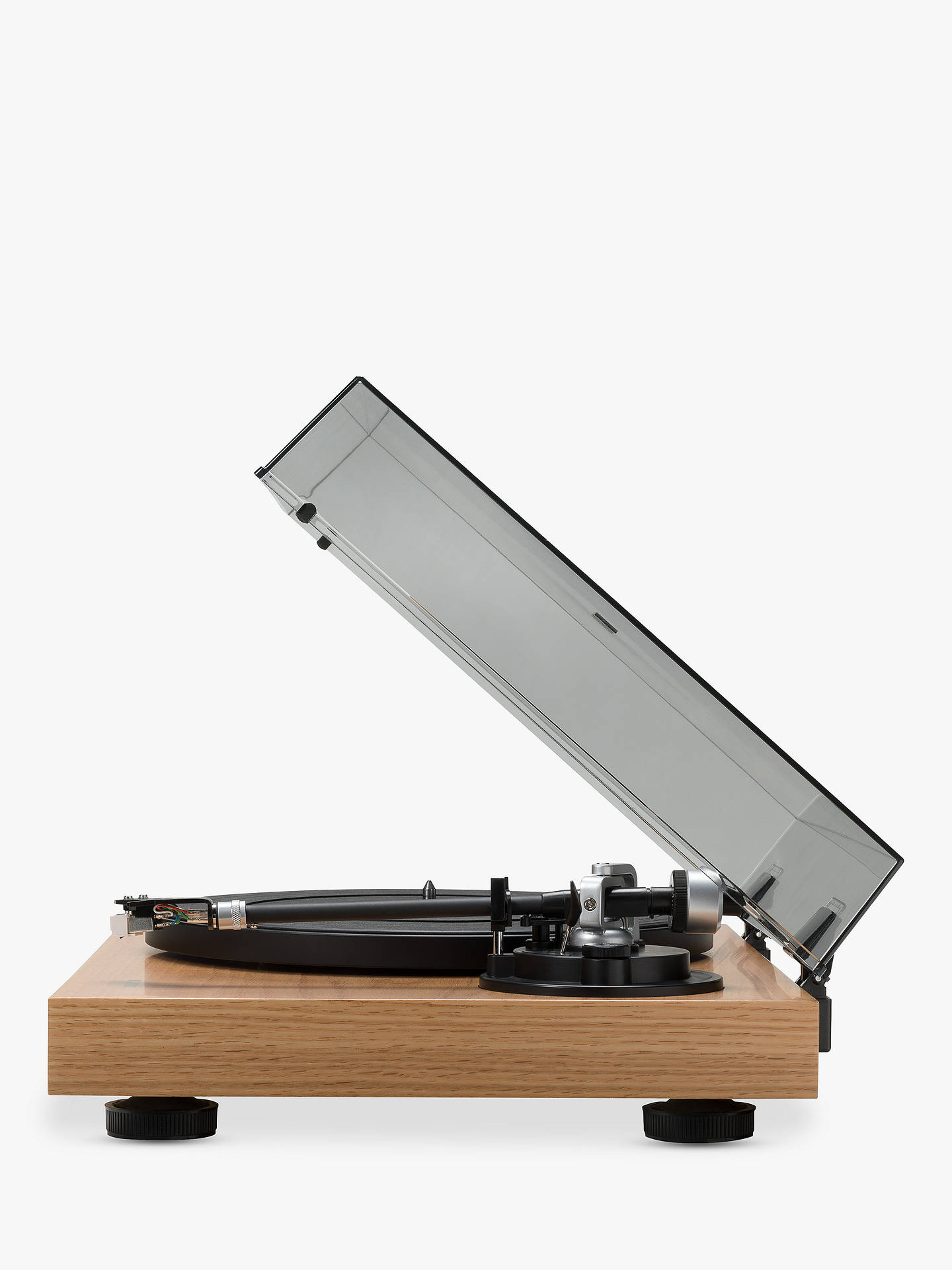 Buy ROBERTS RT100 Two Speed USB Turntable, Natural Wood Online at johnlewis.com