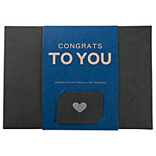 Buy Pana Chocolate Congrats Gift Pack, 180g Online at johnlewis.com