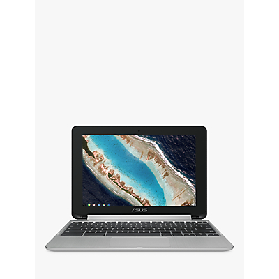 "Image of ASUS C101 10.1"" 2 in 1 Chromebook - Silver, Silver"