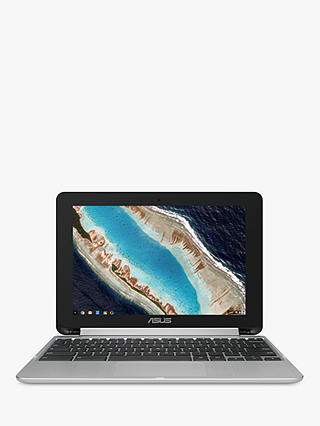 "Buy ASUS Chromebook Flip C101PA, 4GB RAM, 16GB eMMC Flash, 10.1"" Touch Screen, Silver Online at johnlewis.com"