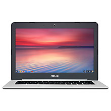 "Buy ASUS Chromebook C301SA, Intel Celeron, 4GB RAM, 32GB eMMC, 13.3"" Online at johnlewis.com"