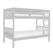 Buy John Lewis Wilton Bunk Bed with little home at John Lewis 15cm Deep Open Spring Water Resistant Mattresses, Single, Grey Online at johnlewis.com