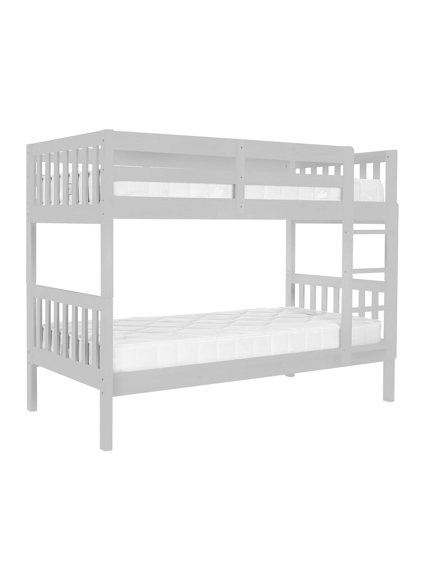 BuyJohn Lewis Wilton Bunk Bed with little home at John Lewis 15cm Deep Open Spring Water Resistant Mattresses, Single, Grey Online at johnlewis.com
