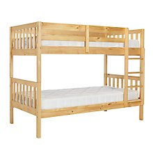 Buy John Lewis Wilton Bunk Bed with little home at John Lewis 15cm Deep Open Spring Water Resistant Mattresses, Single, Natural Online at johnlewis.com