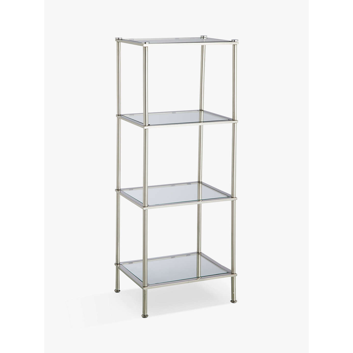 john lewis 4 tier rust resistant stainless steel and glass bathroom shelf unit at john lewis