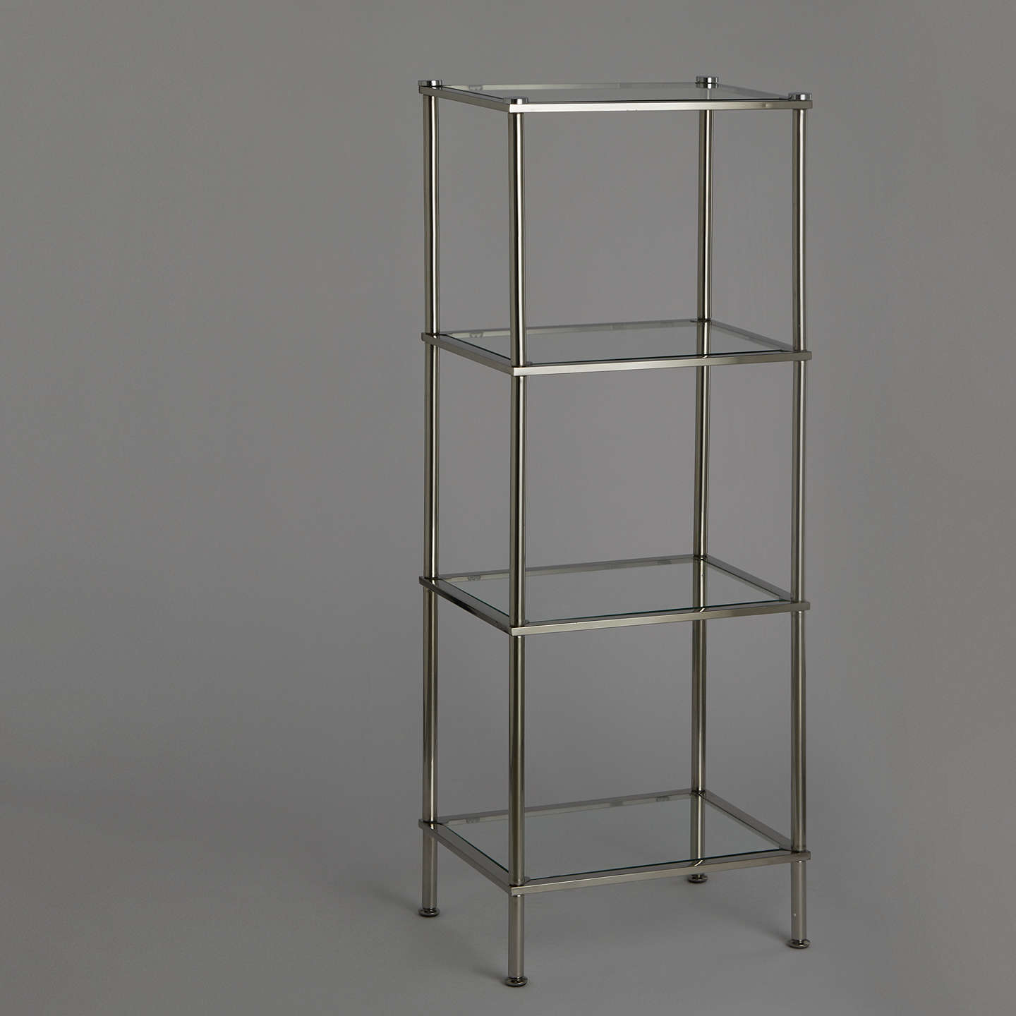 John Lewis 4 Tier Rust Resistant Stainless Steel and Glass Bathroom ...