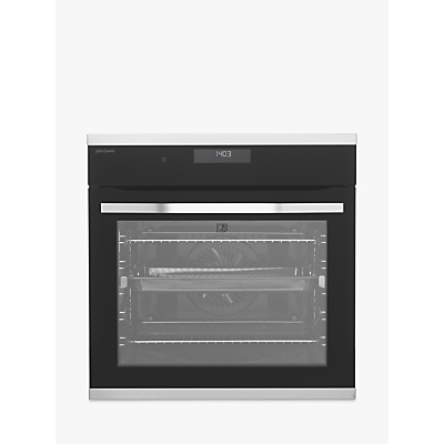 John Lewis & Partners JLBIOS634 Pyrolytic Single Multifunction Oven, Stainless Steel