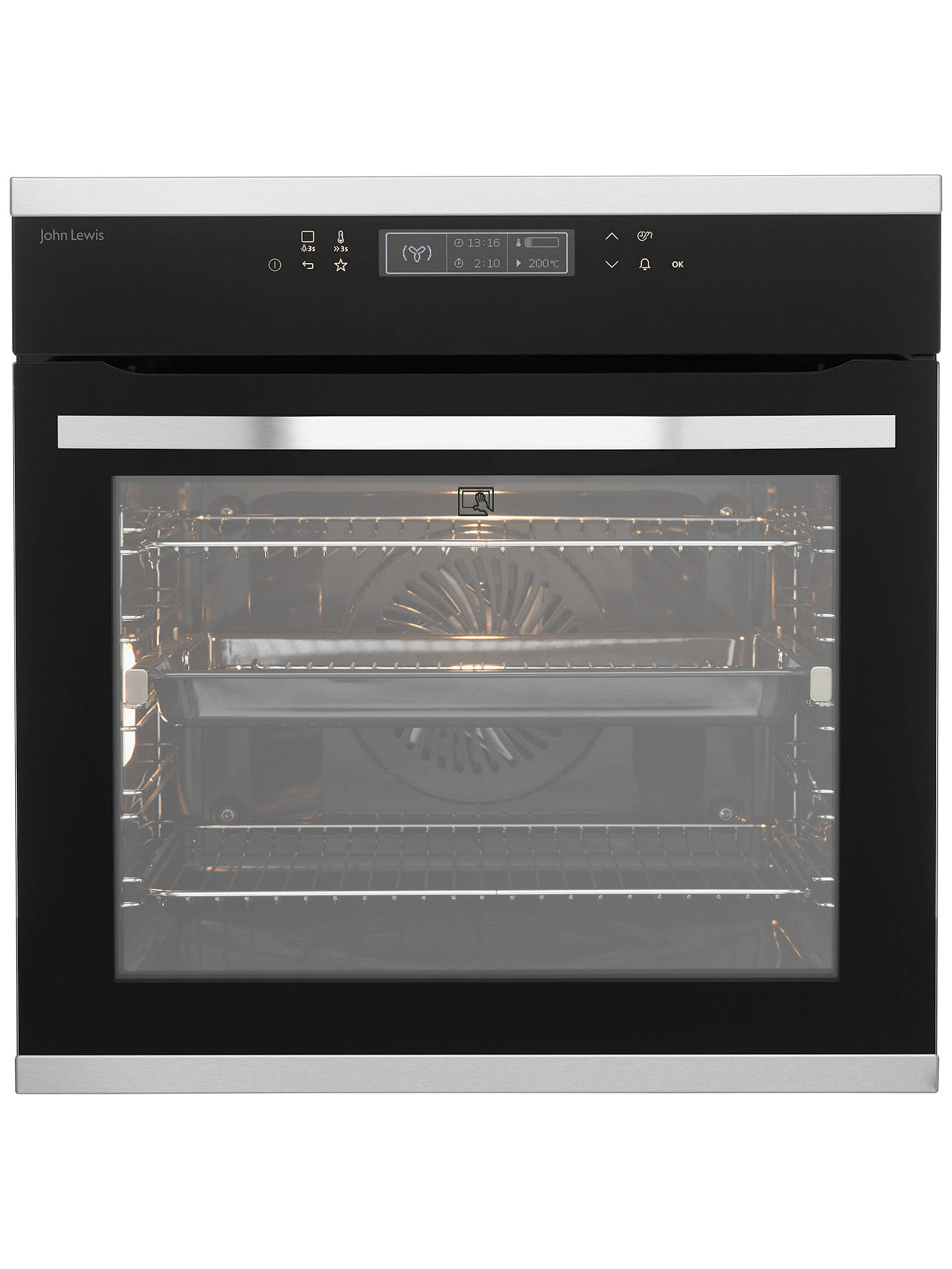 Buy John Lewis & Partners JLBIOS634 Pyrolytic Single Multifunction Oven, Stainless Steel Online at johnlewis.com