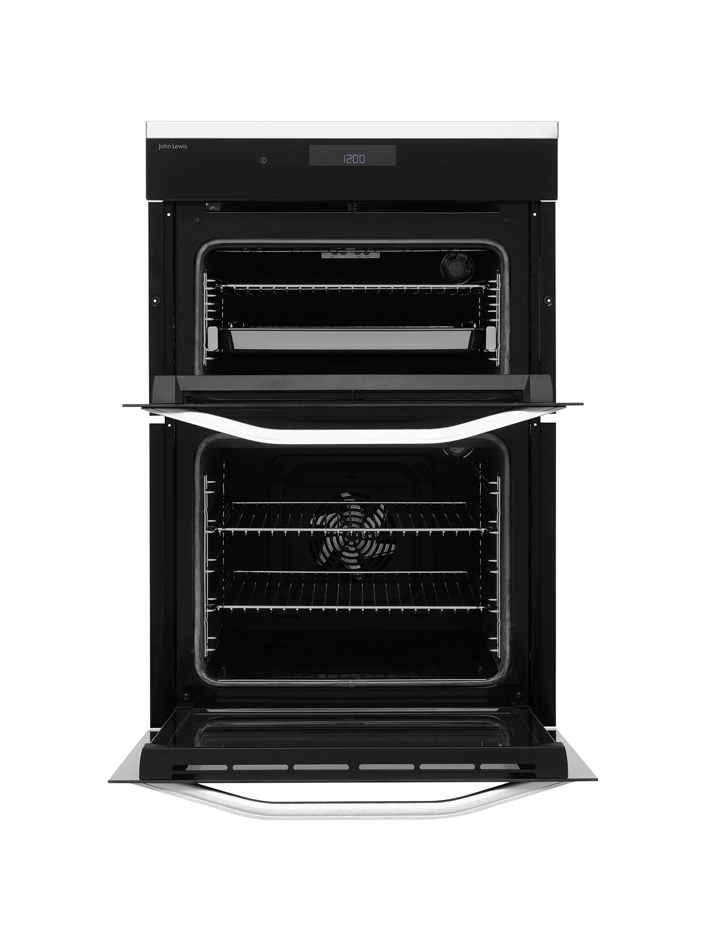 John Lewis & Partners JLBIDO931X Built-In Double Electric Oven ...