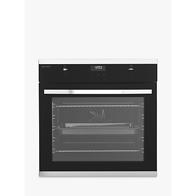 John Lewis & Partners JLBIOS633 Single Pyrolytic Multifunction Oven, Stainless Steel