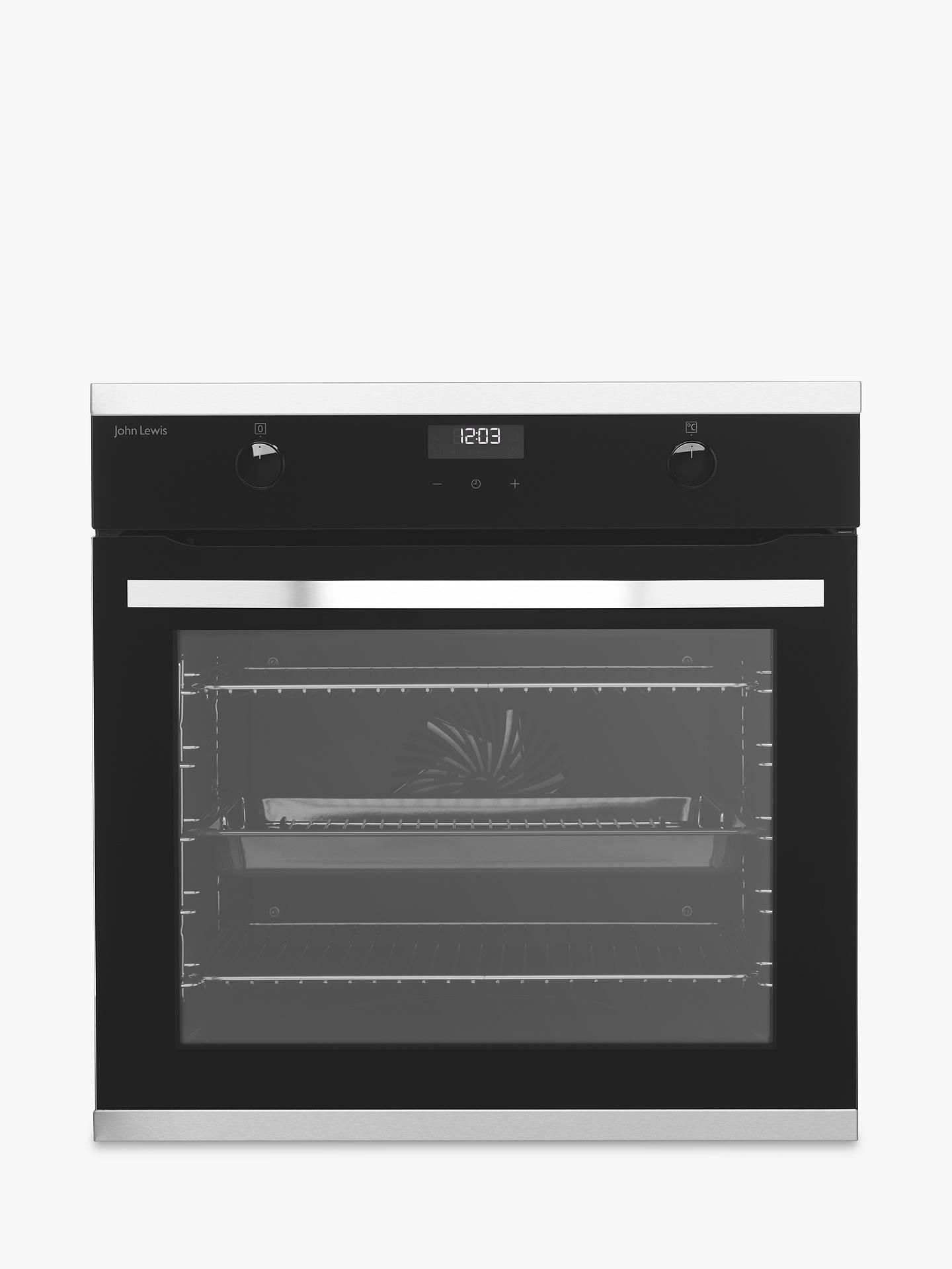 John Lewis Partners Jlbios633 Single Pyrolytic Multifunction Oven Stainless Steel