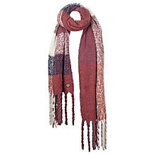 Buy Fat Face Daisy Brush Check Scarf, Pink Online at johnlewis.com