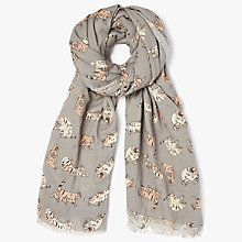 Buy John Lewis House Cat Mini Conversational Scarf, Grey Online at johnlewis.com