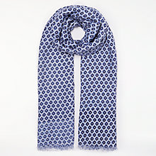 Buy John Lewis Foulade Tile Print Scarf, Navy Mix Online at johnlewis.com
