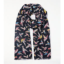 Buy John Lewis Birds In Flight Scarf, Navy Mix Online at johnlewis.com