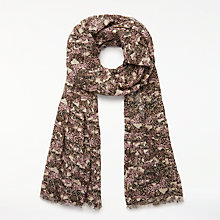 Buy John Lewis Wild Animals Scarf, Grey/Pink Online at johnlewis.com