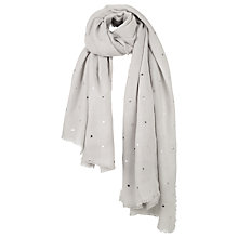 Buy Fat Face Foil Star Scarf, Grey Online at johnlewis.com