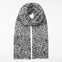 Buy John Lewis Animal Print Scarf, Black Marble Online at johnlewis.com